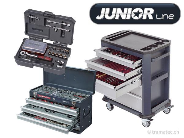 Juniorline, Werkstattwagen, Werkzeugkoffer, Zangen, Meissel, Körner
