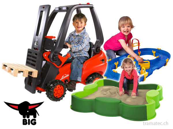 BIG Bobby-Car, Waterplay, Wasserbahn, Sandkasten