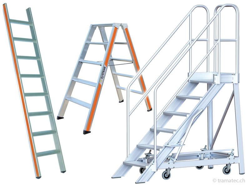 Leitern, Rampen, Gerüste, Podeste...