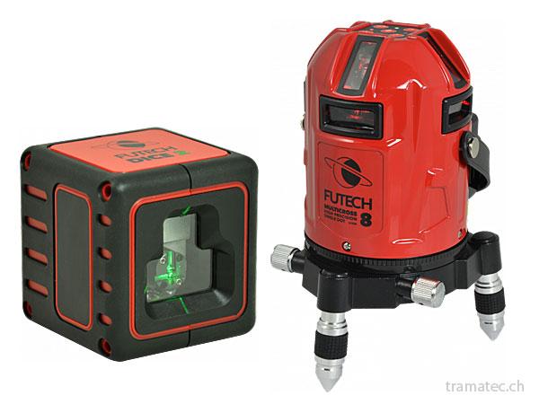 Futech Linienlaser, Kreuzlinienlaser und 3D-Laser mit rotem und grünem Laserstrahl