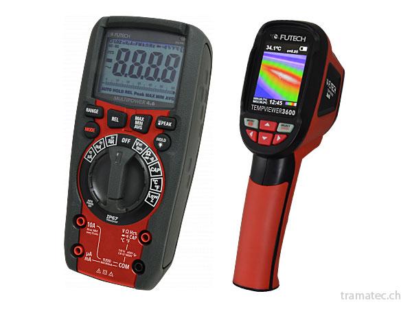 Messgeräte, Multimeter, Wärmebildkameras, Themperaturmesser, Wasserwaagen, Distanzmessgeräte, Wandscanner