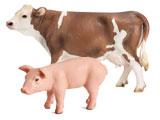 Schleich Farm Life, Bauernhoftiere, Kühe, Schweine, Schafe, Ziegen, Esel, Kaninchen, Hüner