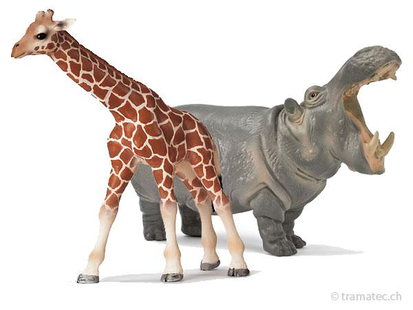 Schleich Wild Life -  Löwen, Giraffen, Nashorn, Gazelle