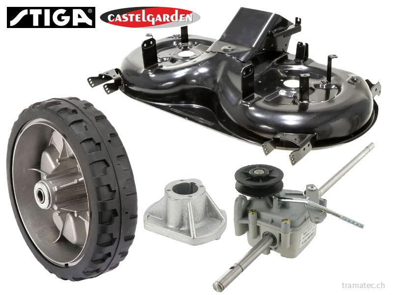 GGP CastelGarden und Stiga Ersatzteile für Rasenmäher, Rasentraktoren, Trimmer, Blasgeräte, Heckenscheren, Hochdruckreiniger