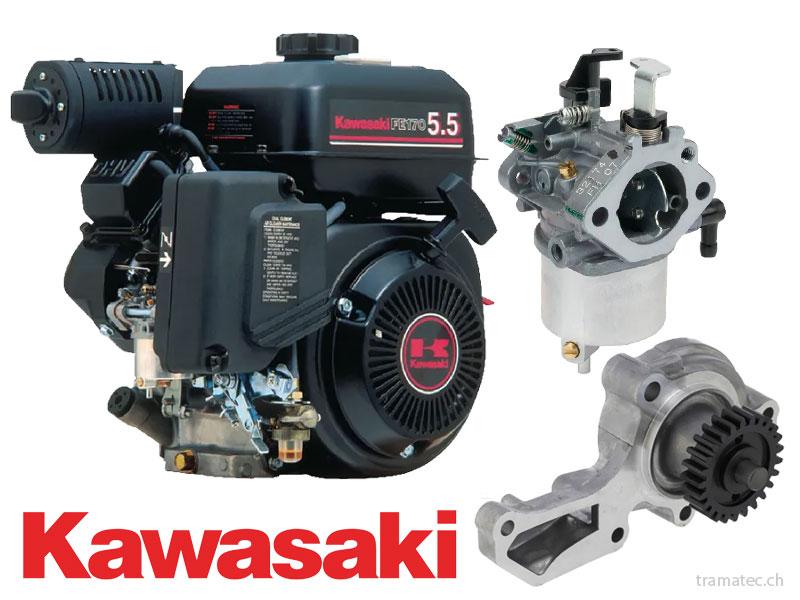 Kawasaki Benzin Motoren Ersatzteile, Tankdeckel, Benzinfilter, Auspuff, Anlasser