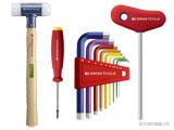 Schraubenzieher, Imbusschlüssel, Splintentreiber, Körner, Kunststoffhämmer, Spezialwerkzeuge