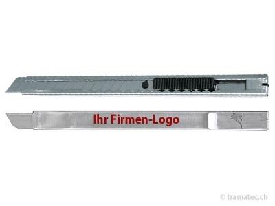 KRAFTWERK Metall-Abbrechmesser 9 mm mit Kundenlogo