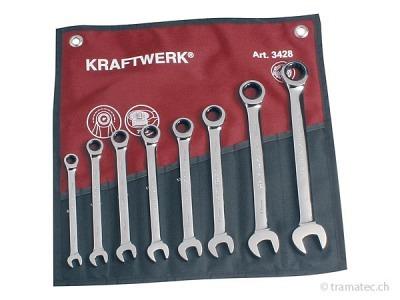 KRAFTWERK 8-t. GearWrench-Satz 8-19 mm Rolltasche