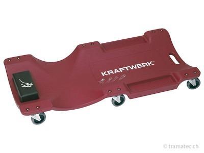 KRAFTWERK Kunststoff-Liegepritsche mit 6 Rad