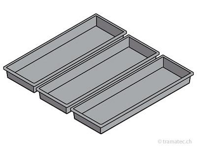 KRAFTWERK Einteilungsmaterial, Schale 1/3, 3Stk.