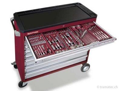 KRAFTWERK Werkzeugwagen hightech mit 8 Schubladen und Werkzeug