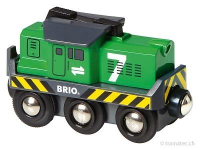 BRIO Batterie Frachtlok