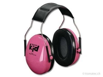Peltor-Kid Gehörschutz speziell für Kinder neonrosa