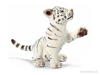 Schleich Tigerjunges weiß, spielend