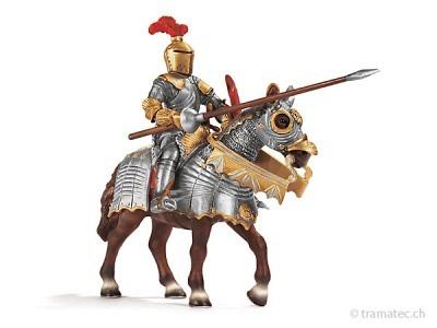 Schleich Ritter mit Lanze auf Pferd