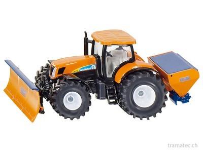 SIKU 2940 Traktor mit Räumschild und Salzstreuer