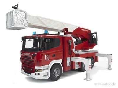 Bruder Scania R-Serie Feuerwehrleiterwagen - 03590