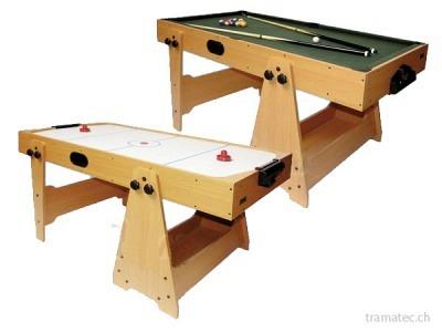 Billard- und Airhockeytisch
