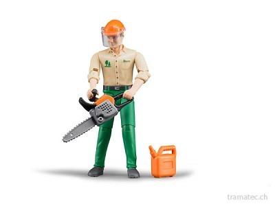 Bruder Forstarbeiter mit Zubehör - 60030