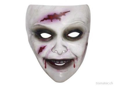 Fasnacht Zombie Maske Frau transparent