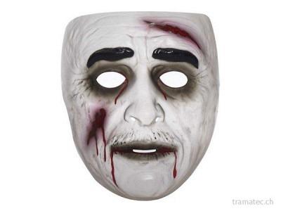 Fasnacht Zombie Maske Mann transparent