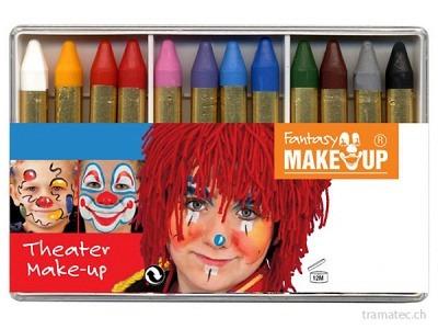 Fasnacht 12 Schminkstifte in Schachtel