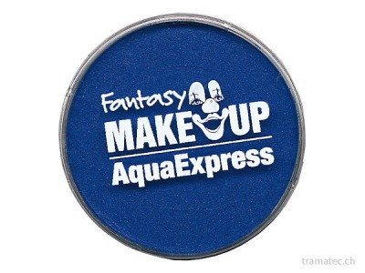 Fasnacht Aqua Expres Schminke blau 15gr
