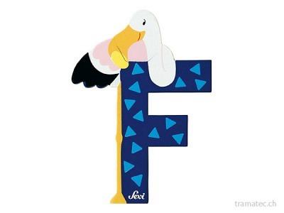 Sevi Buchstabe F Flamingo 10cm