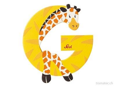 Sevi Buchstabe G Giraffe 10cm