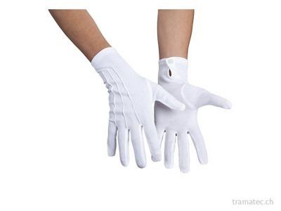 Fasnacht Handschuhe weiss