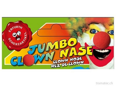 Fasnacht Clownnase XXL Ø 8cm