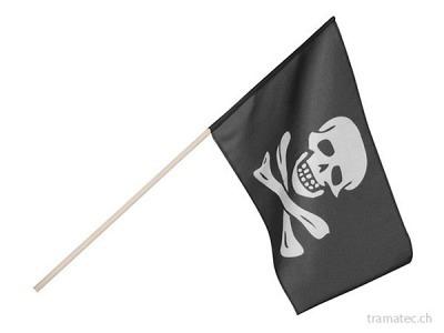 Fasnacht Fahne Pirat schwarz
