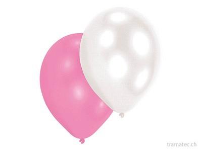 Amscan/Riethmüller 10 Ballone Perlmutt Girls ass.