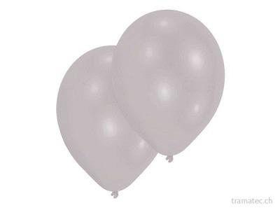 Amscan/Riethmüller 10 Ballone 27.5cm silber