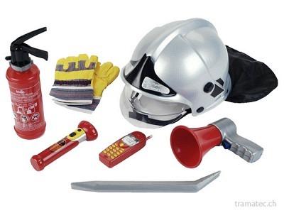 Klein Feuerwehrset mit Helm 7-teilig