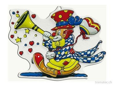 Fasnacht Wanddeko Clown Tröte