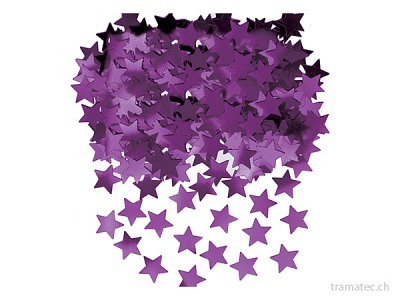 Amscan/Riethmüller Deko-Konfetti Sterne violett