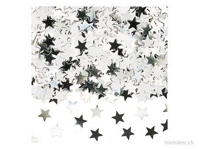 Amscan/Riethmüller Deko-Konfetti Sterne silber