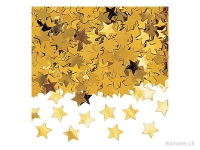 Amscan/Riethmüller Deko-Konfetti Sterne gold