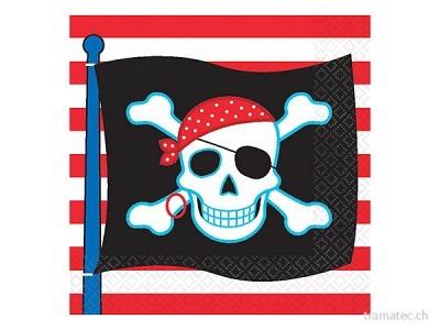 Amscan/Riethmüller 16 Servietten Piraten
