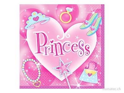 Amscan/Riethmüller 16 Servietten Prinzessin