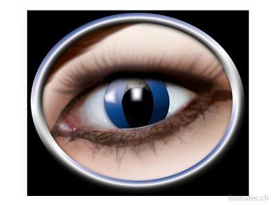 Fasnacht Kontaktlinsen blaue Katze
