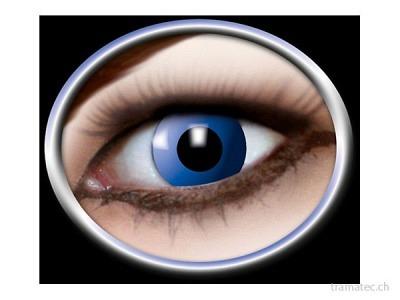 Fasnacht Kontaktlinsen blaue Elfe