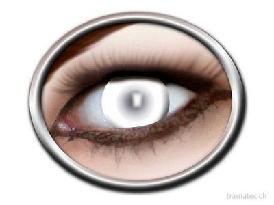 Fasnacht Kontaktlinsen blind weiss