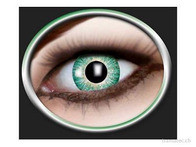 Fasnacht Kontaktlinsen 1-Ton grün