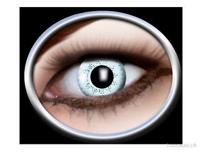 Fasnacht Kontaktlinsen 1-Ton hellblau