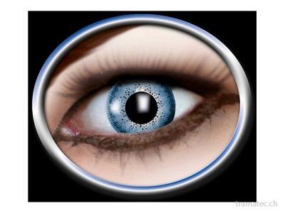 Fasnacht Kontaktlinsen 1-Ton blau