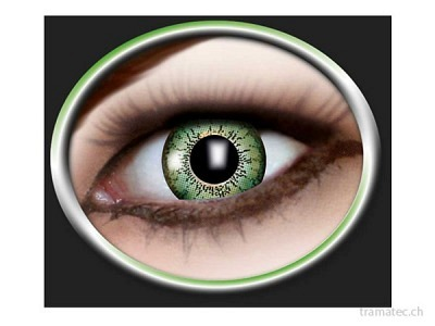 Fasnacht Kontaktlinsen 1-Ton green