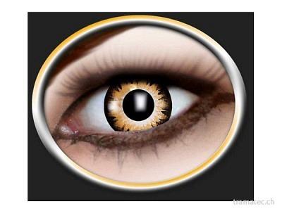 Fasnacht Kontaktlinsen 2-Ton d'gelb