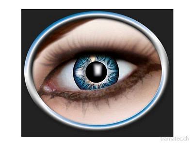 Fasnacht Kontaktlinsen 3-Ton blau